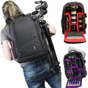 Large Travel DSLR SLR Camera Backpack Laptop Notebook Bag Case Cover Waterproof