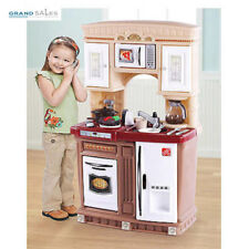 Kitchen Playset For Girls Toddlers Toys Kids Cooking Station Pretend Play Set