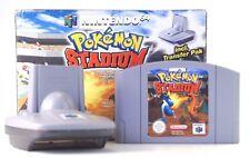 """Nintendo 64 n64 vidéo jeu """"POKEMON STADIUM"""" Module de transfert pak dans neuf dans sa boîte"""