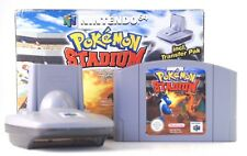 "Nintendo 64 n64 video gioco ""Pokemon Stadio"" modulo con transfer PAK IN SCATOLA ORIGINALE"