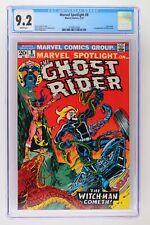 Marvel Spotlight #8 - Marvel 1973 CGC 9.2 Ghost Rider. 1st Appearance of Snake-D