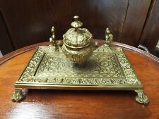 ANTIQUE TIFFANY & CO VICTORIAN ROCOCO BRONZE OR BRASS INKWELL/PEN STAND NR