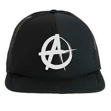 Cappello Anarchy Punk Rock, Trucker Cap nero con logo bianco Anarchia, musica