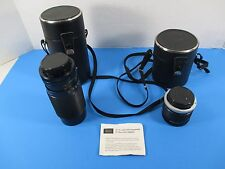 Sears Canon Zoom Photo Lens Model 1:4.0 f=80-200mm & 2X 3X Tele Converter VS4B/1