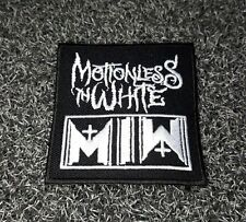 MOTIONLESS IN WHITE ROCK MUSIC Embroidered Patch Iron Sew Logo Emblem METAL MIW