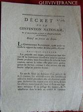 DECRET DE LA CONVENTION relatif aux SERVICE DES ETAPES - An II