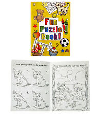 4 PUZZLE BOOKS KIDS TOYS, CHRISTMAS & PARTY BAGS STOCKING FILLERS PRESENTS