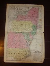 1840 Hand Colored Engraved Map of the Middle States & Part South/from Mitchell's