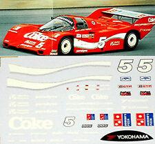 Porsche 962 COCA COLA #5 IMSA 1986 Pieza 1:43 Pegatina Adhesivo