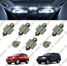 7x White LED lights interior package kit for Nissan Pathfinder 2005-2012 W5##2#