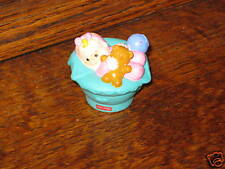Fisher Price Little People Home Doll House Teal BABY teddy rattle balloon van