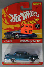 Hot Wheels 1:64 Scale HW Classics Series 1 1957 CHEVY BEL AIR (LIGHT BLUE)