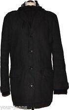 QS Cappotto Taglia XL nero cappuccio cappotto da uomo