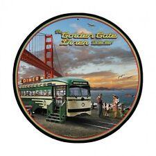 San Francisco Cable Car Diner Golden Gate Bridge Retro Sign Blechschild Schild
