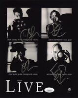 LIVE Band Gracey Dahlheimer Taylor Kowalczyk Signed Autographed 8x10 Photo JSA