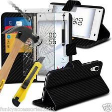 Leather Wallet Quality Phone Case✔Glass Screen Protector✔Sony Xperia XZ