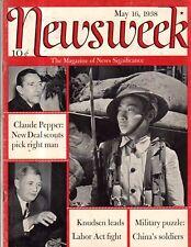 1938 Newsweek May 16 - G-Man killed; Pan American clipper;St. Bernards;Trapshoot