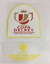 Copa Del Rey Final 2017 Barcelona Vs Alaves Spanish Cup Patch Badge Match Detail