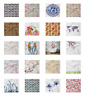 Ambesonne Floral Decorative Satin Napkins Set of 4 Party Dinner Fabric