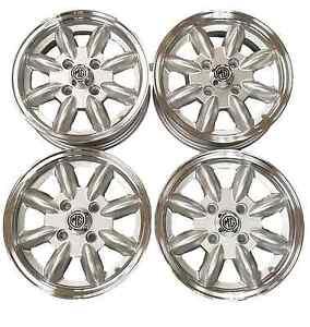 MG Midget/AH Sprite Silver Minilight Alloy Wheels