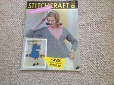 STITCHCRAFT Ladies Vintage Knitting Magazine February  1960