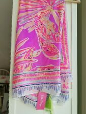 New Lilly Pulitzer Willa Scarf Wrap Silk Amethyst Sunseekers 03029