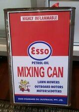 ESSO PETROL OIL MIXING CAN LABEL Decal Garage Service Station Retro vespa