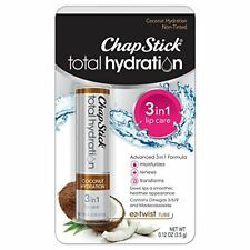 6 Pack ChapStick Total Hydration 3-in-1 Coconut 0.12oz Each