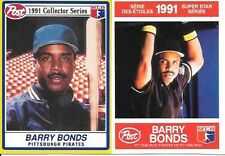 BARRY BONDS 1991 POST #21, AMERICAN & 1991 POST #5, CANADIAN  FREE COMBINED S/H