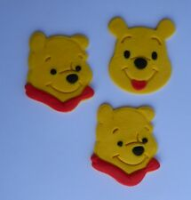 12 edible WINNIE THE POOH faces cake CUPCAKE topper DECORATION bear KIDS party
