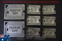 RFID BLOCKING SLEEVES - 2 x Passport, 6 x Credit Card/License SCAN SAFE SECURE