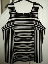 GEORGE BLACK & WHITE STRIPED TOP SIZE 16 WORN ONCE