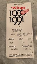 1991 Detroit Red Wings Vs Edmonton Jan9th 5-3 Win Yzerman 2 Goals
