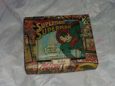 Mens Superman Bi-fold Wallet Official Gift Boxed DC Comics Vintage Classic NEW