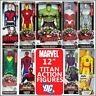 "MARVEL + DC 12 Inch Titan Hero Series Action Figures Many Rare Retired 12"" New"