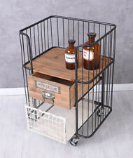 Bar Car Vintage Serving Cart Trolley Table Tea Art Deco Cocktail Cabinet