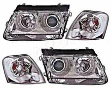 VW Passat B5 97-99 Chrome Headlights + Corner Lights Lamps LEFT + RIGHT 4pcs