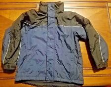 Boys Youth Columbia Outerwear Winter Jacket with Hood Black/Blue Size 10/12