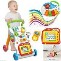 Baby Walker First Step Activity Musical Toy Trolley Sit-to-Stand Learning Walker