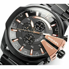 IMPORTED LUXURY DIESEL DZ4309 MEGA CHIEF BLACK CHRONOGRAPH MENS WATCH