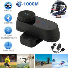 1000M BT Interphone Motorcycle Motorbike Bluetooth  Helmet Intercom FM headset
