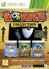 Worms Collection Microsoft Xbox 360 PAL Brand New SEALED