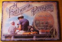 Fathers Prayer Fishing Sign Rustic Fisherman Lodge Cabin Home Decor Sign NEW
