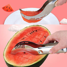 1PC Stainless Steel Watermelon Melon Slicer Server Knife Cutter Corer Scoop Tool