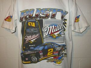 Vintage Nascar Rusty Wallace Built for Speed MGD T-Shirt Large