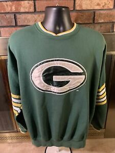 Vintage Starter Green Bay Packers NFL Football Crewneck Sweatshirt Mens Large