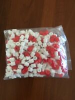 BATTLESHIP Game replacement parts pieces lot of red / white small pegs