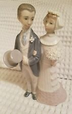 """Retired Lladro Wedding Couple 4808 7 3/4"""" Tall Excellent Cond. w/ Box Free Ship"""