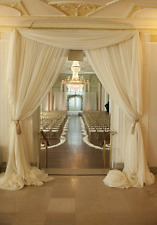 "1 IVORY VOILE CHIFFON SHEER DRAPE PANEL BACKDROP CURTAIN WEDDING 80"" W x 100"" L"