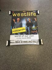 WestLife  Original Concert Poster From Germany Berlin 2002